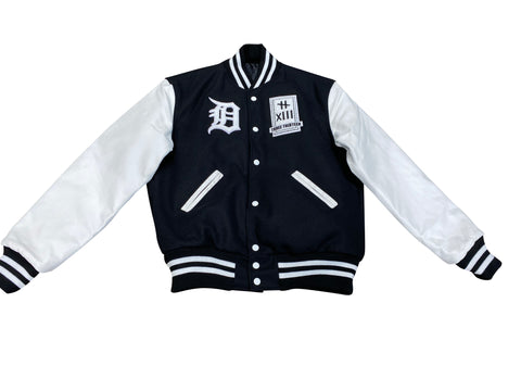 3-13 VARSITY JACKET w/White Leather Sleeves