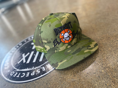 CAMO BAD BOYS SNAPBACK HAT