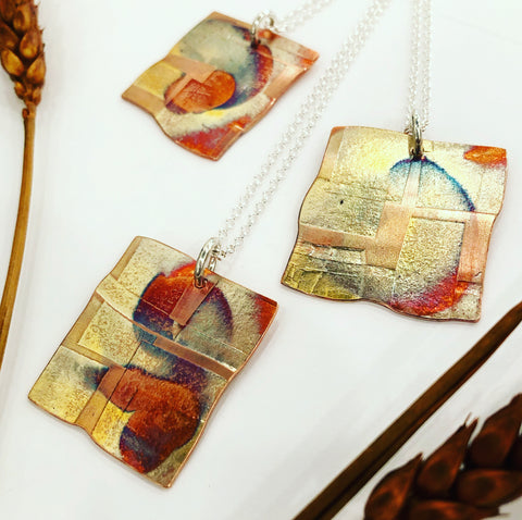 Patchwork Copper Pendant (Small)