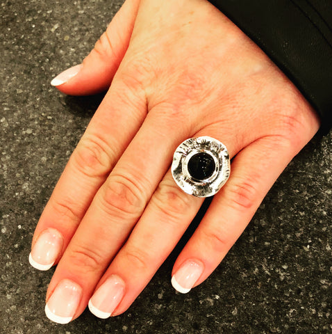 One-of-a-Kind Black Onyx Ring
