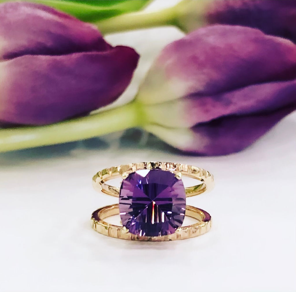 Amethyst & Gold Ring