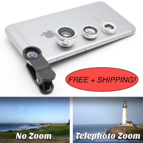 Three Lens Cell Phone Telescopic Kit