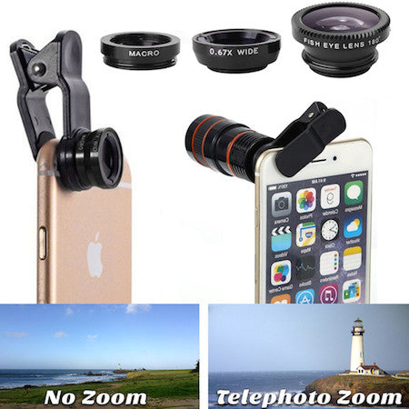 6 in 1 Portable Smartphone Telescopic Camera Studio