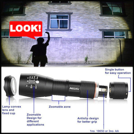 The CRAZY Bright XML-T6 Flashlight Torch