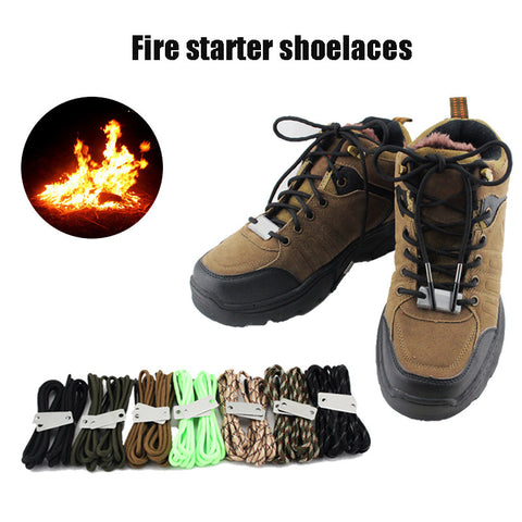These are Incredible! Paracord Fire Starting Boot Shoelaces
