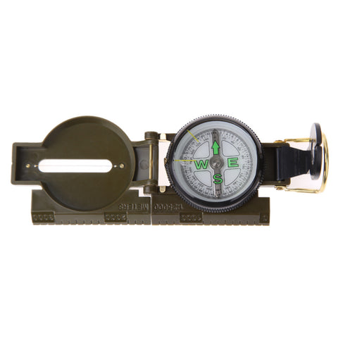 New Promotion Portable Folding Lens Compass American Military  Multifunction New Free Shipping