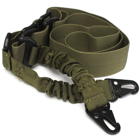 Two Point Sling, Adjustable Bungee & Rifle Gun Sling Strap