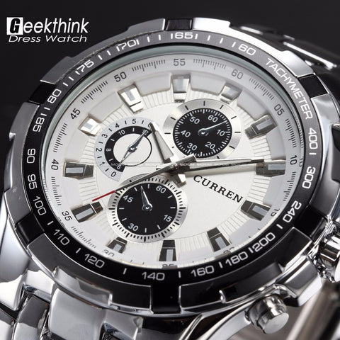 Luxury Stainless Steel Military For Business Watch