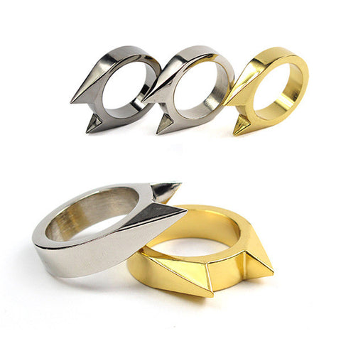 Stainless Steel Self-defense Women's Self Ring