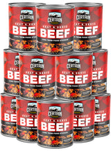 12 CANS 28 OZ BEEF