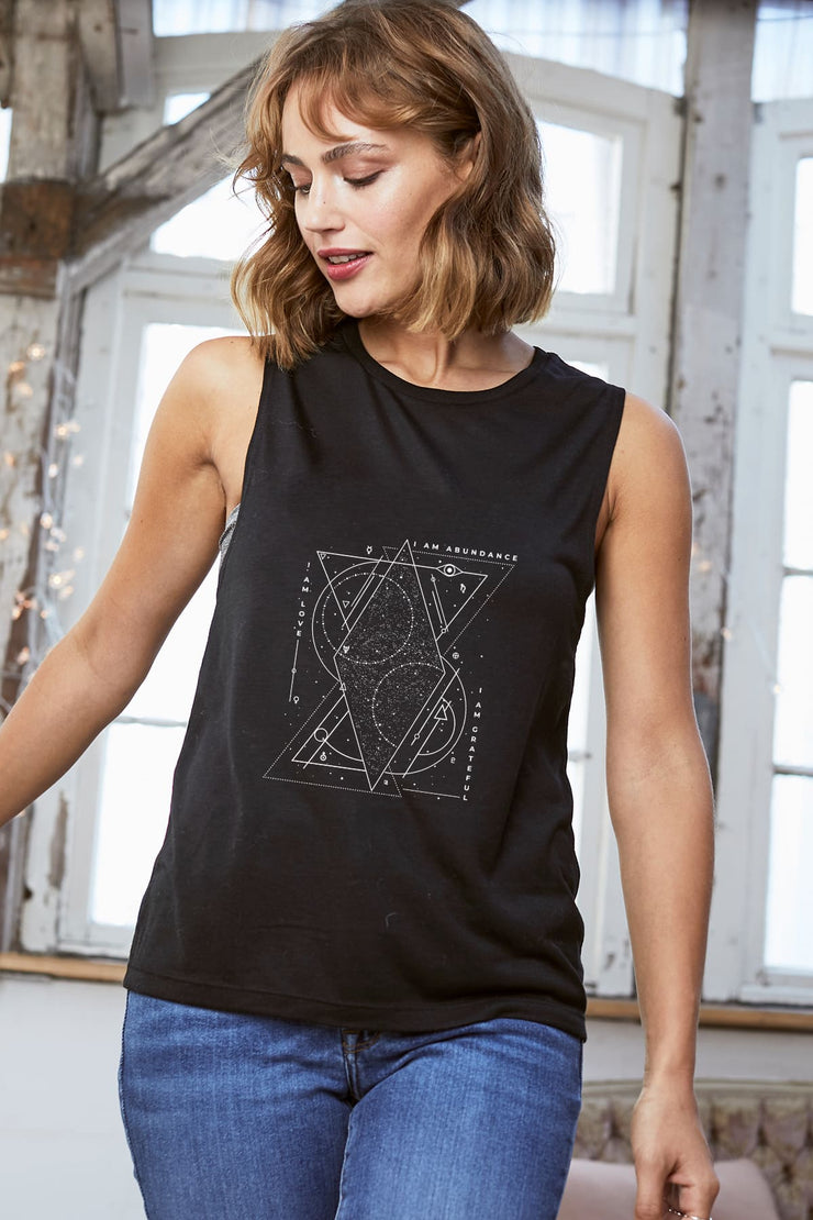 """Cosmic Mantra"" Muscle Tank"