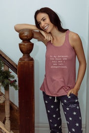 """Full Moon"" flowy tank in rose color"