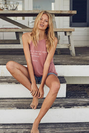 """Be Kind"" Flowy High Neck Tank"
