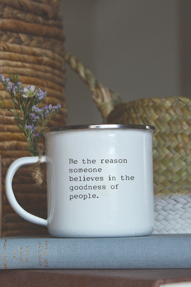 """Be The Reason"" Enamel Mug"