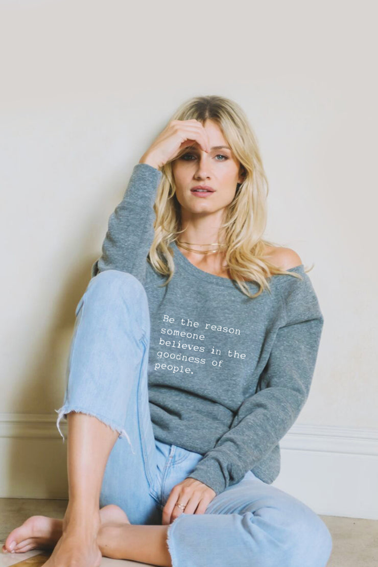 Be the Reason cozy pullover in pastel blue