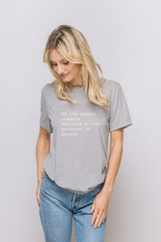"grey short sleeve tee ""Be the Reason"""