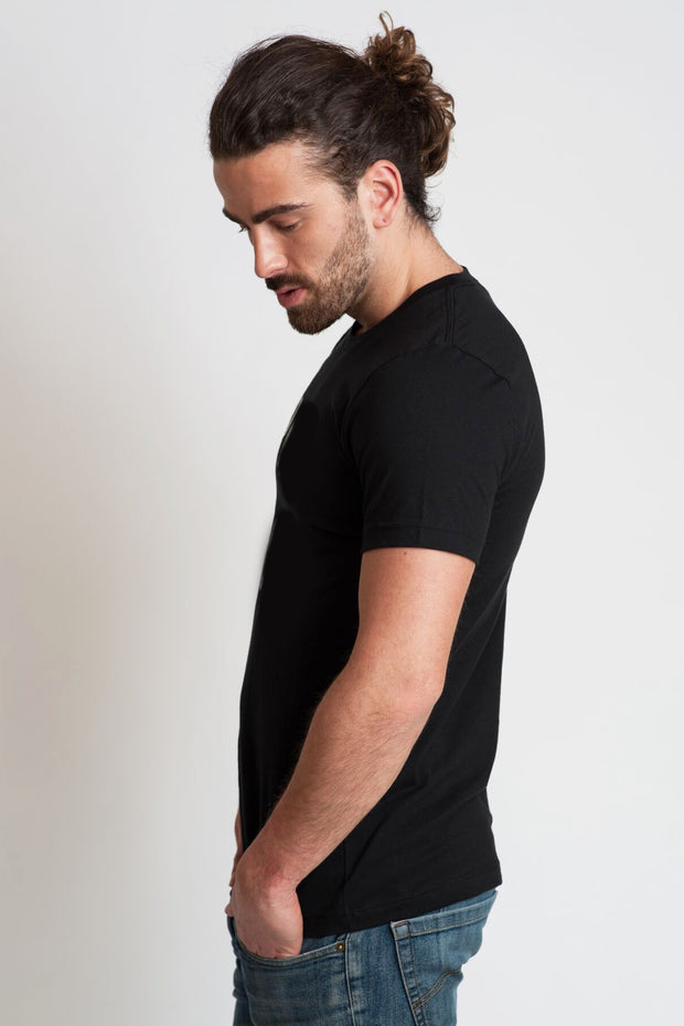 "mens black tee ""beard"""