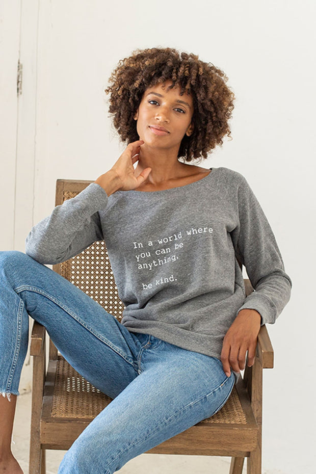 """Be Kind"" Cozy Pullover"