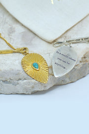 "Sacred Turquoise ""Be Kind"" Pendant"