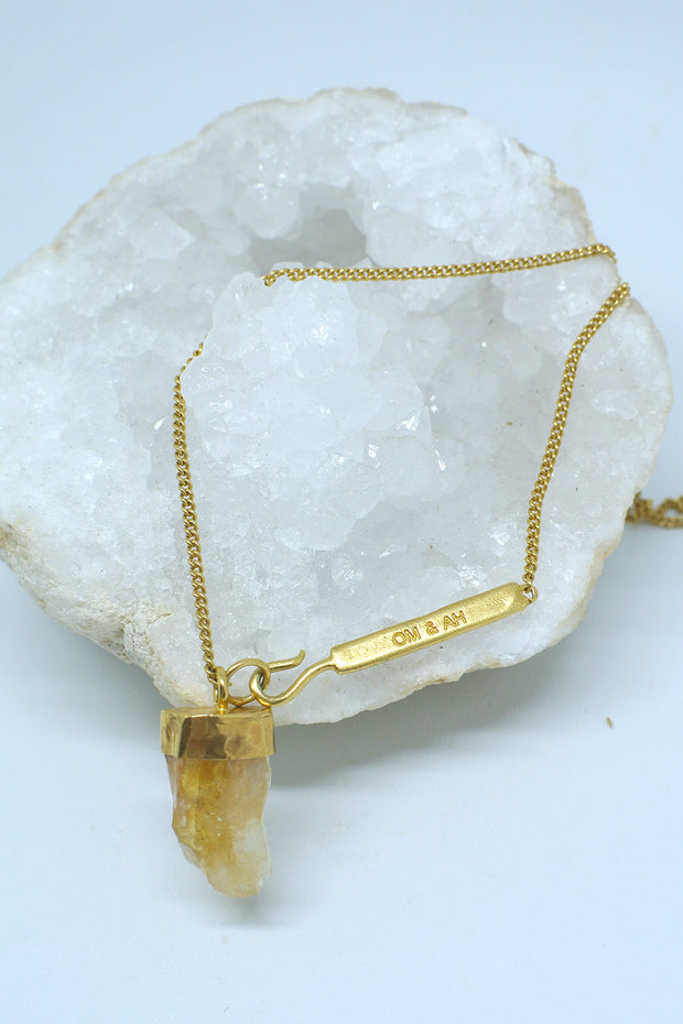 Citrine 'Find Your Fire' Necklace