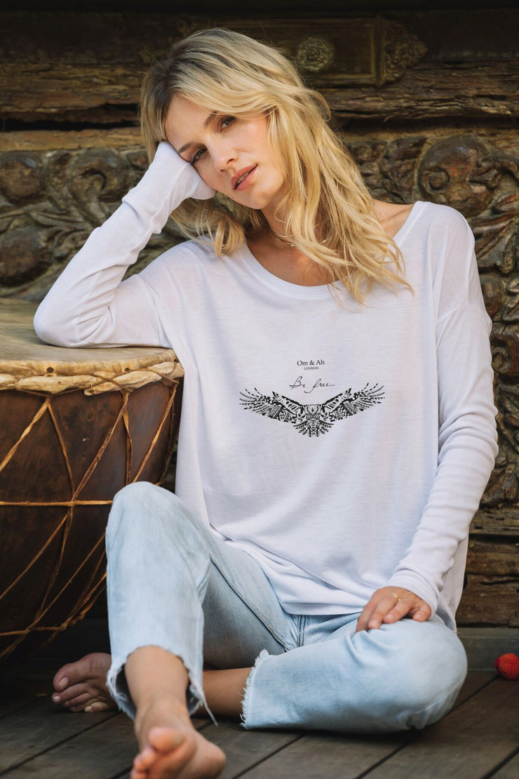 """Be Free"" Eagle long sleeve motivation t-shirt"