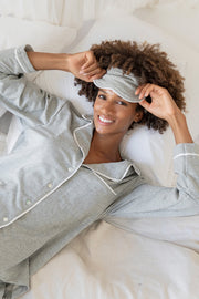 Luxury Dove Grey Pyjama Set With Hidden Mantra