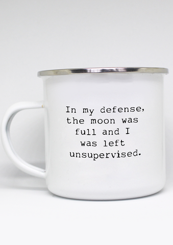 """Full Moon"" Enamel Mug"