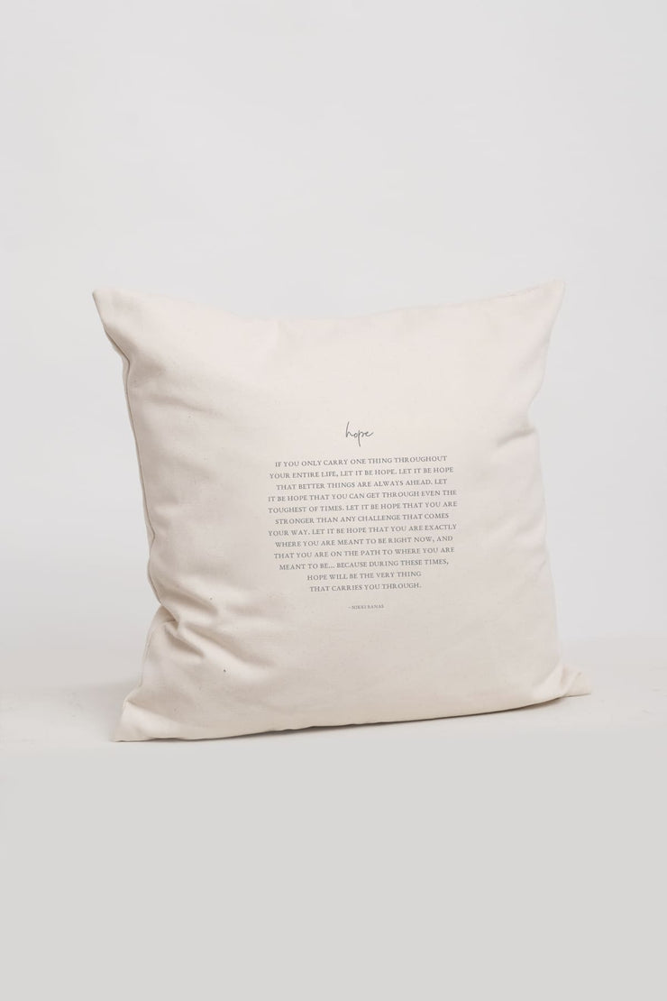 """Hope"" Cushion Cover"