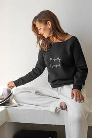 """Perfectly Imperfect""  Cozy Pullover"