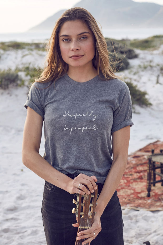 "grey tee ""perfectly imperfect"""