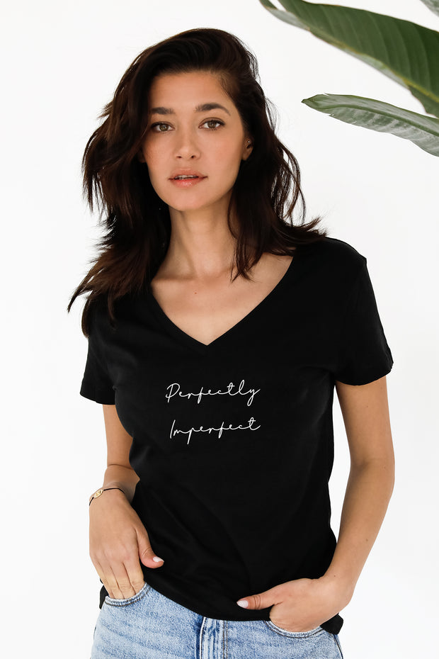 """Perfectly Imperfect"" V Tee"