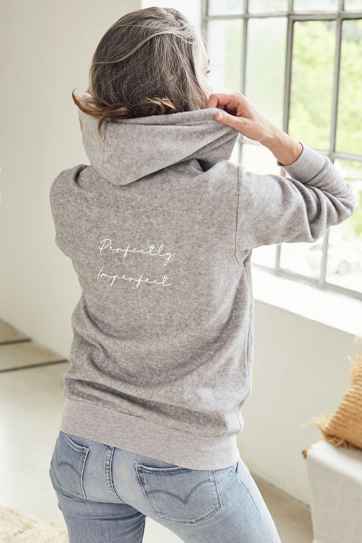 """Perfectly Imperfect"" Comfort Zip Hoodie"