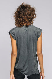 grey short sleeve tee back