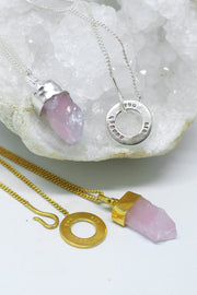 Rose Quartz 'You Are Enough' Necklace
