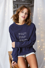 """What You Think"" Relaxed Sweater"