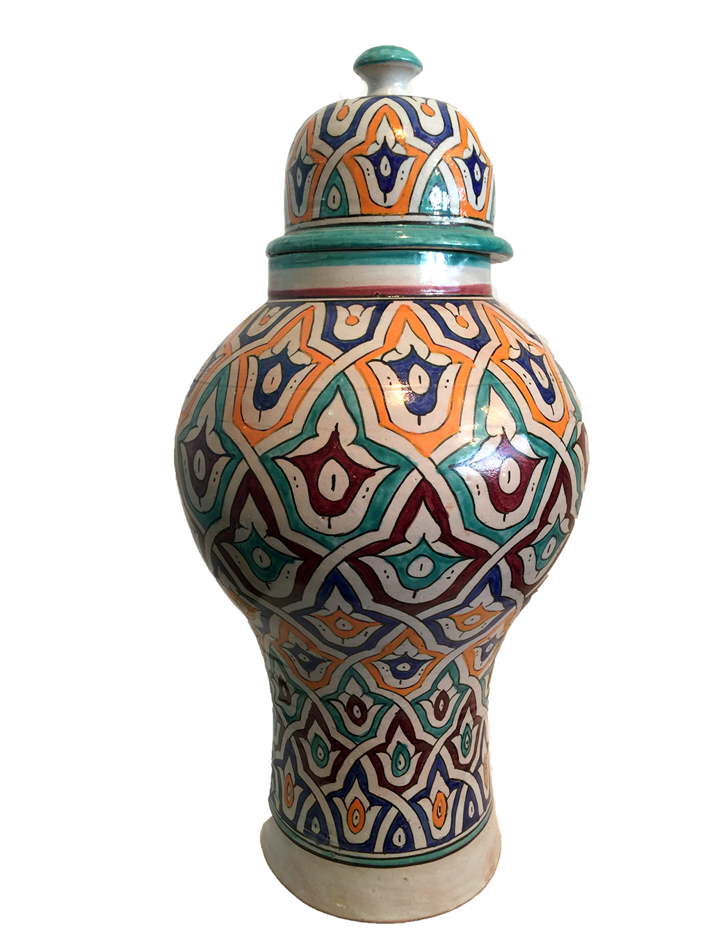 Antique Moroccan Ginger Vase