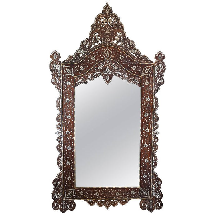 Consigned, Antique Mother-of-Pearl Mirror (Large)