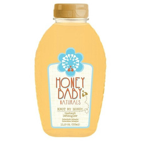 A bottle of Honey Baby Naturals Detangler