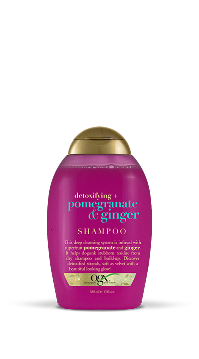 Detoxifying + Pomegranate & Ginger Shampoo (13 oz)
