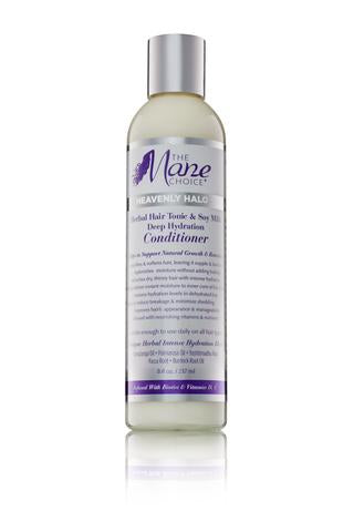 The Mane Choice Heavenly Halo Herbal Hair Tonic & Soy Milk Deep Hydration Conditioner  (8 oz.)