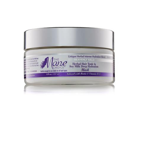 The Mane Choice Heavenly Halo Herbal Hair Tonic & Soy Milk Deep Hydration Hair Mask  (8 oz.)