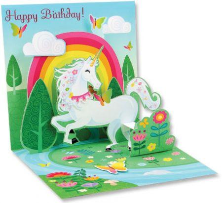 Spring Unicorn 3D Pop-Up Birthday Card - the unicorn store