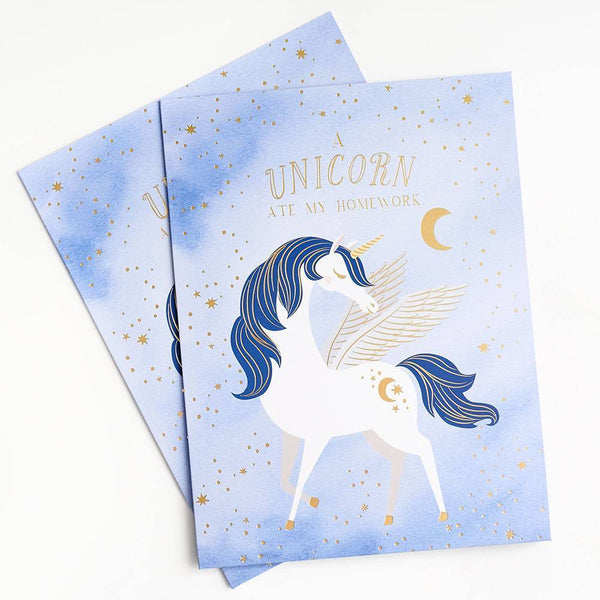 Unicorn Pocket Folder - Lavender Set of 2
