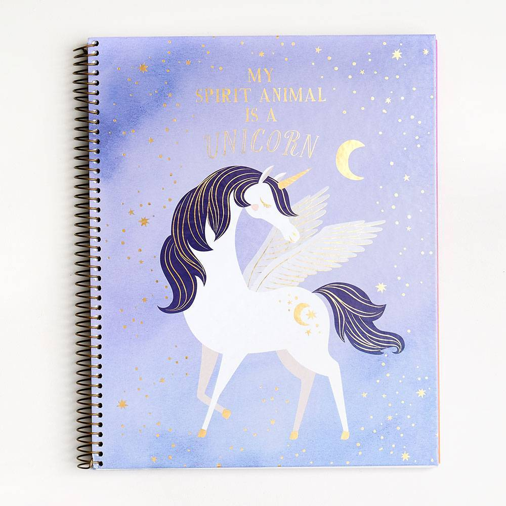 Unicorn Spiral Notebook - Lavender