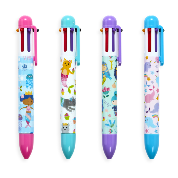 Mermaid Magic 6 Click Multi Color Pen