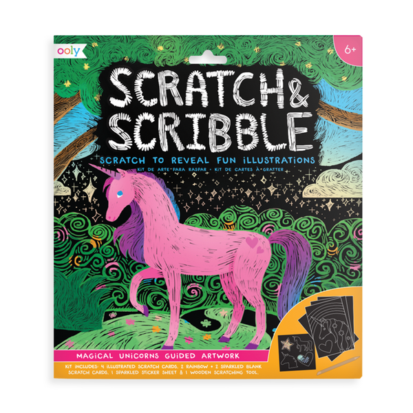 Magical Unicorns Scratch and Scribble Art Kit