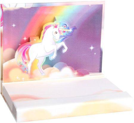 Unicorns & Rainbows Pop-Up Notepad - the unicorn store