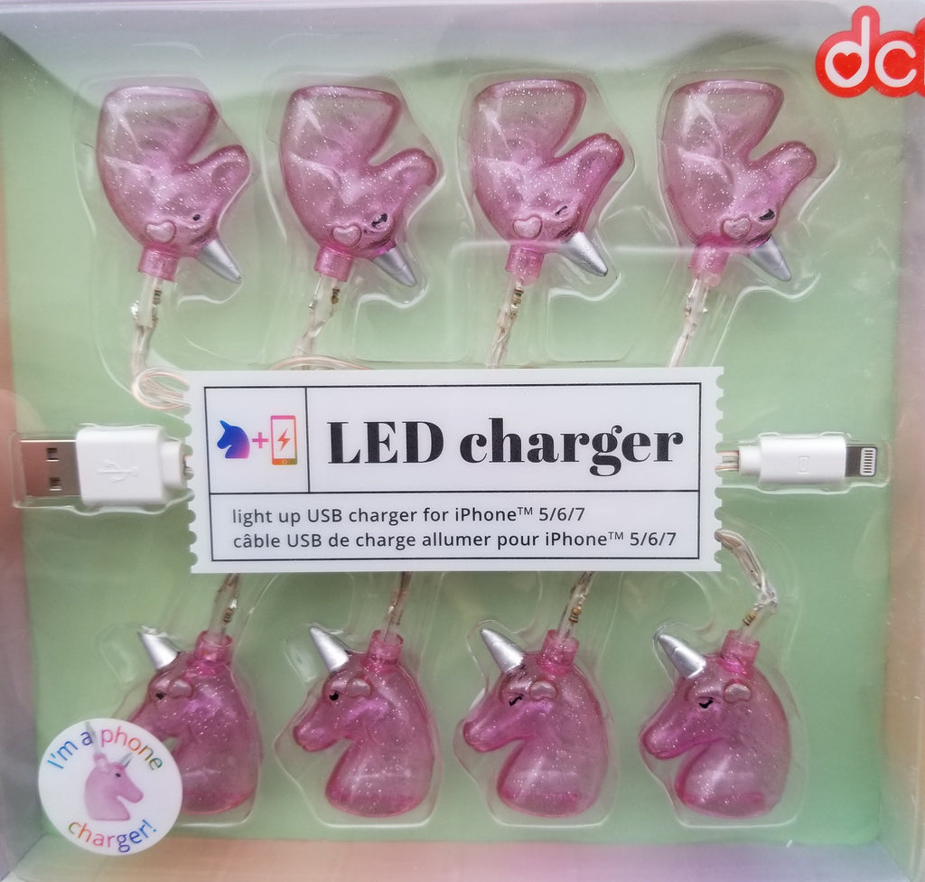Led Unicorn Charger for iphone - Pink - the unicorn store