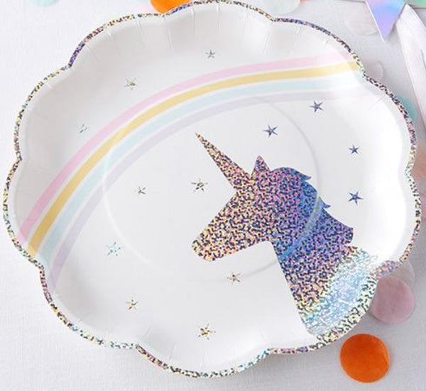 Enchanted Unicorn Paper Plates - Set of 8 - the unicorn store