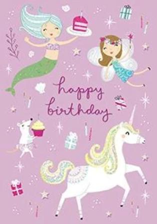 Fantastical Day Birthday Unicorn - Birthday Sticker Card